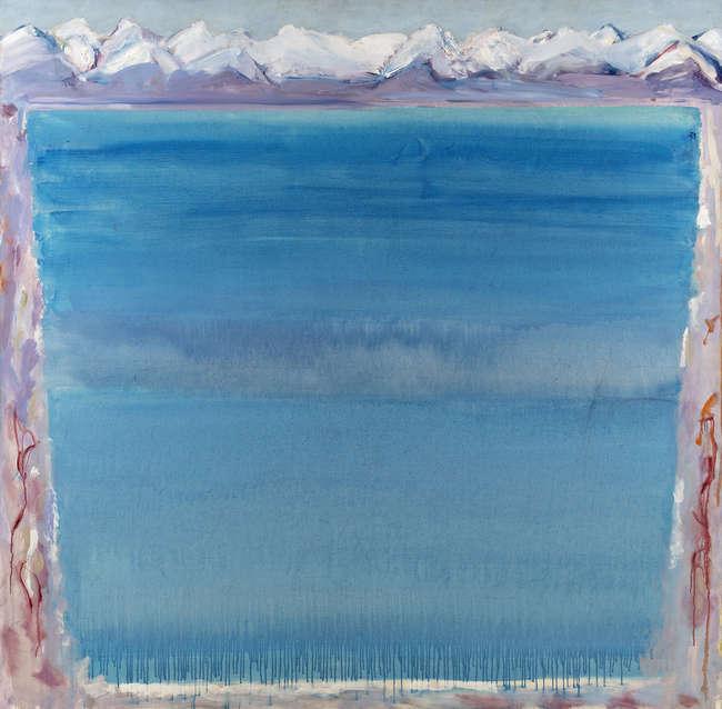 Barrie Cooke HRHA (1931-2014) Tekapo Lake Painting I (1989)