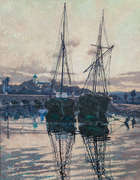Lilian Lucy Davidson ARHA (1879-1954)			 Boats at Wicklow, Fine Irish Art at Adams Auctioneers