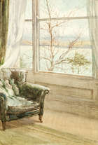 Lady Kate Dobbin (1868-1955) From My Window Watercolour, Fine Irish Art at Adams Auctioneers