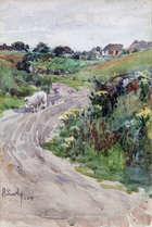 Harry Scully RHA (1863-1935) Sheep on a Path Watercolour, Fine Irish Art at Adams Auctioneers