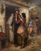 Erskine Nicol RSA ARA (1825-1904) Preparing for Market Day Oil on canvas, 103 x 83cm (40½ x 32¾..., Fine Irish Art at Adams Auctioneers