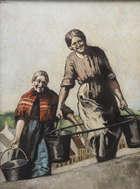 William Conor RHA RUA ROI (1881-1968) Water Buckets Oil on canvas, 59.5 x 44.5cm (23½ x 17½'') ..., Fine Irish Art at Adams Auctioneers