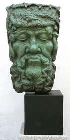 Rory Breslin (b.1963) Mask of the Nore Bronze, 88.5cm high x 41.5 wide (35 x 16