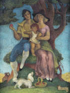 Lady Beatrice Glenavy RHA (1881-1970) The Apple Oil on canvas, 45.5 x 35.3cm (18 x 14'') Signed w..., Fine Irish Art at Adams Auctioneers