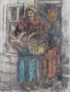 William Conor RHA RUA ROI (1881-1968) The Delph Woman Crayon, 49 x 38cm (19¼ x 15'') Signed, Fine Irish Art at Adams Auctioneers