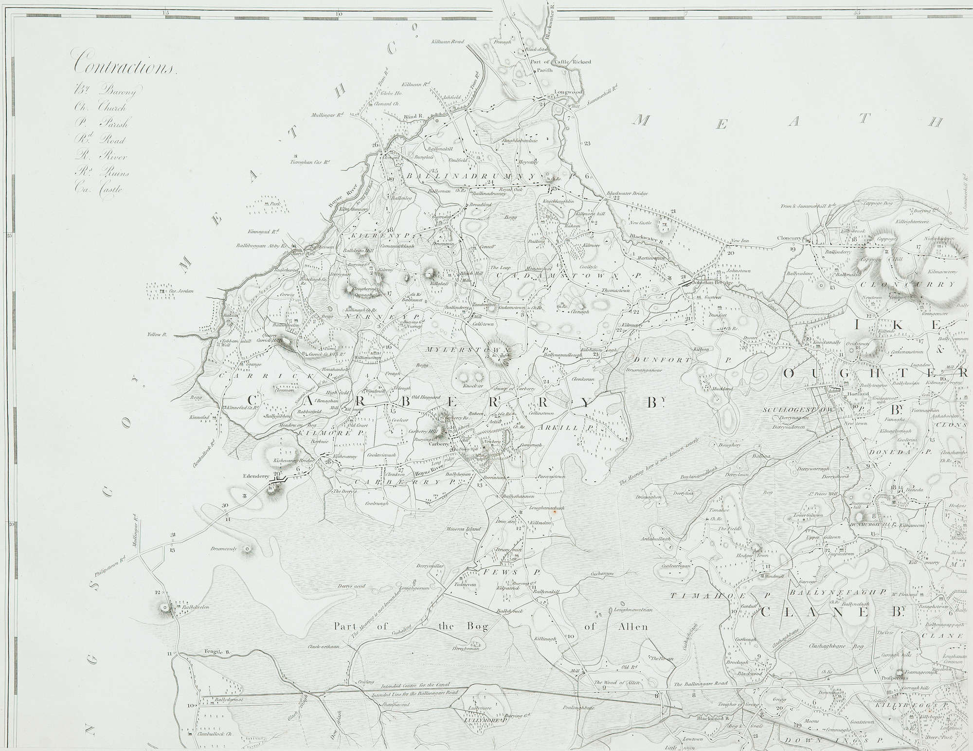LOT:463 | Alexander Taylor A Map of the County of Kildare In six
