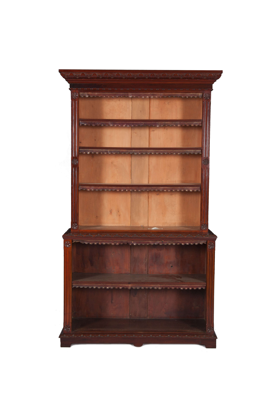 Lot 309 A 19th Century Mahogany Open Bookcase The Upper