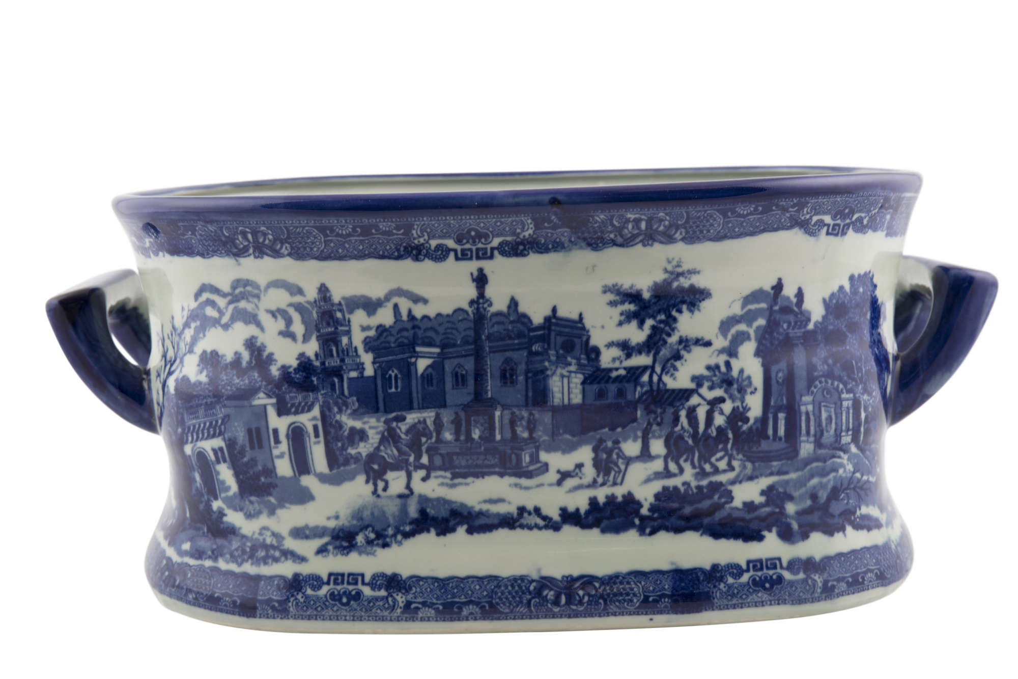 LOT:491 | A VICTORIAN IRONSTONE BLUE AND WHITE PRINTED FOOT BATH ...