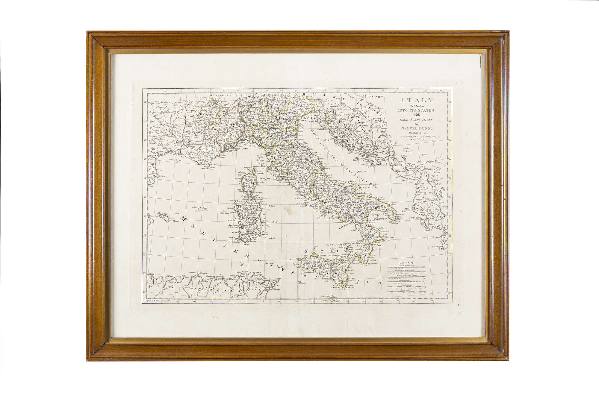 Map Of England Zoom.Lot 478 Tindal After Rapin 1687 1744 A Map Of Italy With Its