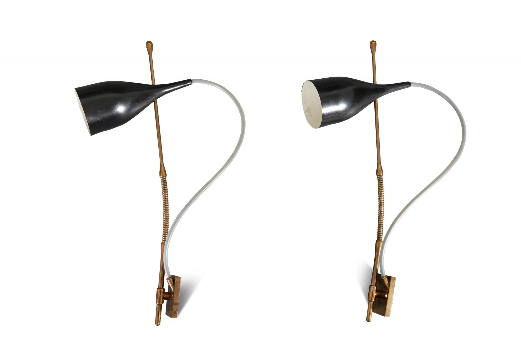 Lot:88 a pair of lucinella applique angelo lelli wall lights
