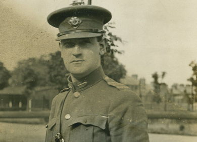 Two photographs of Michael Collins in uniform, one full length and one half length - Sold for €3,000