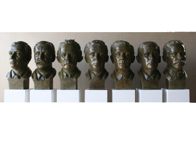 Rory Breslin (b.1963) -  Seven Heads of the Seven Signatories - Sold for €27,000
