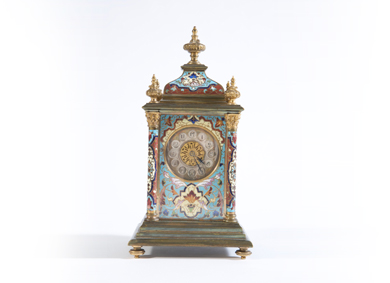 A cloisonné enamel mantel clock - Sold for €3,000