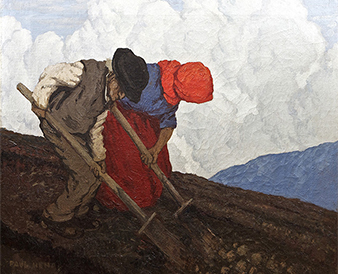 Paul Henry RHA RUA (1876-1958) The Potato Diggers (1910-11) Sold for €400,000