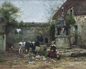 Walter Osborne RHA (1859-1903) 'A Grey Morning in a Breton Farmyard' Sold for €100,000