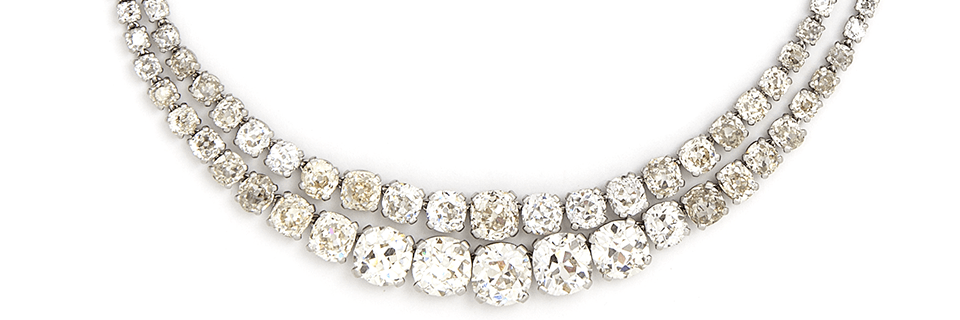 A circa 1930's diamond necklace by Cartier   Sold for €210,000