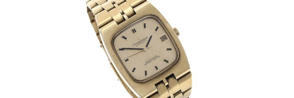 A Gentleman's 18 carat gold Constellation wristwatch by Omega  - Sold for  €3,300