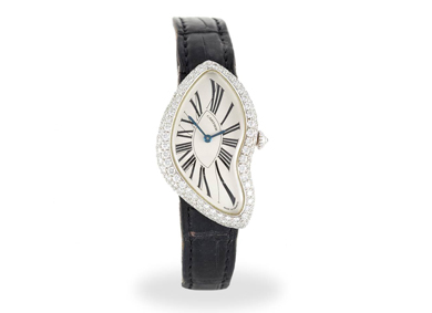 A lady's limited edition 'Crash' wristwatch by Cartier - Sold for €25,000