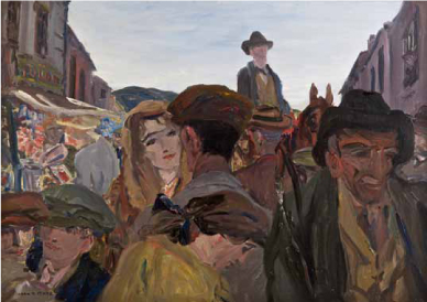 Jack B. Yeats - A Fair Day Mayo Sold - €1,000,000