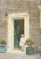 Rose Maynard Barton, RWS (1856 - 1929) Doorway in Cheyne Walk Watercolour, 36 x 26cm (36 x 10.25'..., Fine Irish Art at Adams Auctioneers