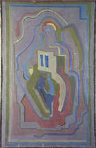 Evie Hone, RHA (1894 - 1955) Abstract Composition Oil on canvas, 100 x 65cm (39.75 x 25.25'') Sig..., Fine Irish Art at Adams Auctioneers