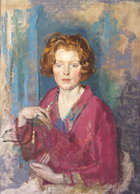 Margaret Clarke, RHA (1888 - 1961) Molly Oil on canvas, 76 x 56cm (30 x 22'') Exhibited: ''Margar..., Fine Irish Art at Adams Auctioneers