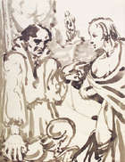 Christopher Campbell (1908-1973) The Gypsy Fortune Teller Monocrome watercolour, 22.5 x 17.5cm (9..., Fine Irish Art at Adams Auctioneers