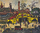 Kenneth Hall, (1913-1946) Charing Cross Tube Station Oil on canvas, 51 x 61cm, (20 x 24'') Signed..., Fine Irish Art at Adams Auctioneers