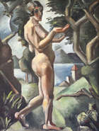 Mainie Jellett (1897-1944) Cubist Nude in Landscape (c.1921) Oil on canvas 64 x 49cm (25 x 19.5in..., Fine Irish Art at Adams Auctioneers