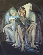 Anne Yeats (1919-2001) Figure Study Oil on canvas, 50 x 40cms (19.5 x 15.75''), Fine Irish Art at Adams Auctioneers