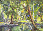 Fergus O'Ryan, RHA ANCA, (1911-1989) Picnic Party by Woodland Pool Oil on board, 41 x 51cms, (16 ..., Fine Irish Art at Adams Auctioneers