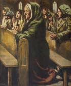 William Conor RUA RHA (1881-1968) The Benediction Oil on canvas, 62 x 52cm (24.5 x 20.5'') Signed..., Fine Irish Art at Adams Auctioneers