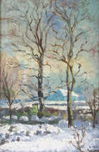 Kathleen Fox (1880-1963) When Winter Comes Oil on canvas, 44.5 x 29cm (17.5 x 11.5'') Signed bott..., Fine Irish Art at Adams Auctioneers
