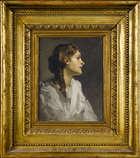 Sir John Lavery R.S.A., R.A., R.H.A. (1856-1941) Mary in Profile  Oil on canvas, 29.2 x 22.9cm, (..., Fine Irish Art at Adams Auctioneers