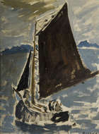 Elizabeth Rivers (1903-1964) Hooker off Aran Islands, Galway Oil on canvas board, 38.5 x 28.5cm (..., Fine Irish Art at Adams Auctioneers