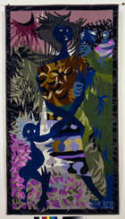 Louis Le Brocquy HRHA (b.1916) Travellers (1948) Colour inverted Aubusson Tapestry, 180 x 100cm, ..., Fine Irish Art at Adams Auctioneers