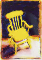 Neil Shawcross RHA RUA (b.1940) Kitchen Chair Acrylic on paper, 64 x 45.5cm (25.25 x 18'') Signed..., Fine Irish Art at Adams Auctioneers