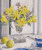 Rosaleen Brigid Ganly HRHA (1909-2002) Daffodils by a window Oil on canvas, 46 x 38cm, (18 x 15''..., Fine Irish Art at Adams Auctioneers