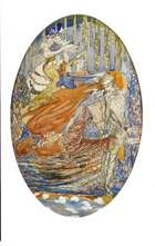Harry Clarke RHA (1889-1931) A Meeting (1918) Watercolour, 30 x 19.5cm (11.75 x 7.75'') Inscribed..., Fine Irish Art at Adams Auctioneers