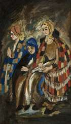 Markey Robinson (1917-1999) Woman Reading ''The Holy Well'' Oil on card, 71 x 42cm (28 x 16.75'')..., Fine Irish Art at Adams Auctioneers