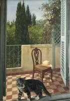 Patrick Hennessy RHA (1915-1980) The Balcony Oil on canvas, 88 x 62cm (34.5 x 24.5'') Signed  Exh..., Fine Irish Art at Adams Auctioneers