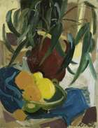 Elizabeth Rivers RHA (1903-1964) Eucalyptus and Fruit 1950 Oil on canvas, 66 x 51cm (26 x 20'') S..., Fine Irish Art at Adams Auctioneers