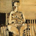 Colin Middleton MBE RHA RUA (1910-1983) Seated Figure 4.71 Oil on board, 76 x 61cm (30 x 24'') Si..., Fine Irish Art at Adams Auctioneers