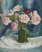 Moyra Barry (1885-1960) Still Life Study of Vase of Roses Oil on canvas, 51 x 41cm (20 x 16'') Si..., Fine Irish Art at Adams Auctioneers