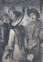 John Butler Yeats RHA (1839-1922) Children in the Street Watercolour heightened with white, 35 x ..., Fine Irish Art at Adams Auctioneers