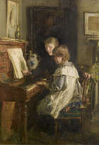 Walter Frederick Osborne RHA (1859-1903) The Music Lesson  Oil on canvas, 76 x 53.5 (30 X 21'')  ..., Fine Irish Art at Adams Auctioneers