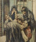 William Conor RHA RUA ROI (1881-1968) The Street Dance Coloured chalk, 61 x 53.5cm (24 x 22'') Si..., Fine Irish Art at Adams Auctioneers