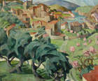 Mary Swanzy HRHA (1882-1978) A Hilltop Town in the South of France Oil on canvas, 63.5 x 76cm (25..., Fine Irish Art at Adams Auctioneers