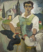 Gerard Dillon (1916-1971) Italian with Fowl (1948) Oil on board, 60 x 50 cm (20 x 24'') Signed Pr..., Fine Irish Art at Adams Auctioneers
