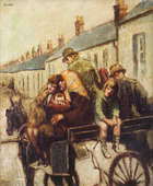 WILLIAM CONOR RUA RHA (1884-1968) The Jaunting Car (No. 1) Oil on canvas, 60.5 x 50.5cms (24 x 20..., Fine Irish Art at Adams Auctioneers